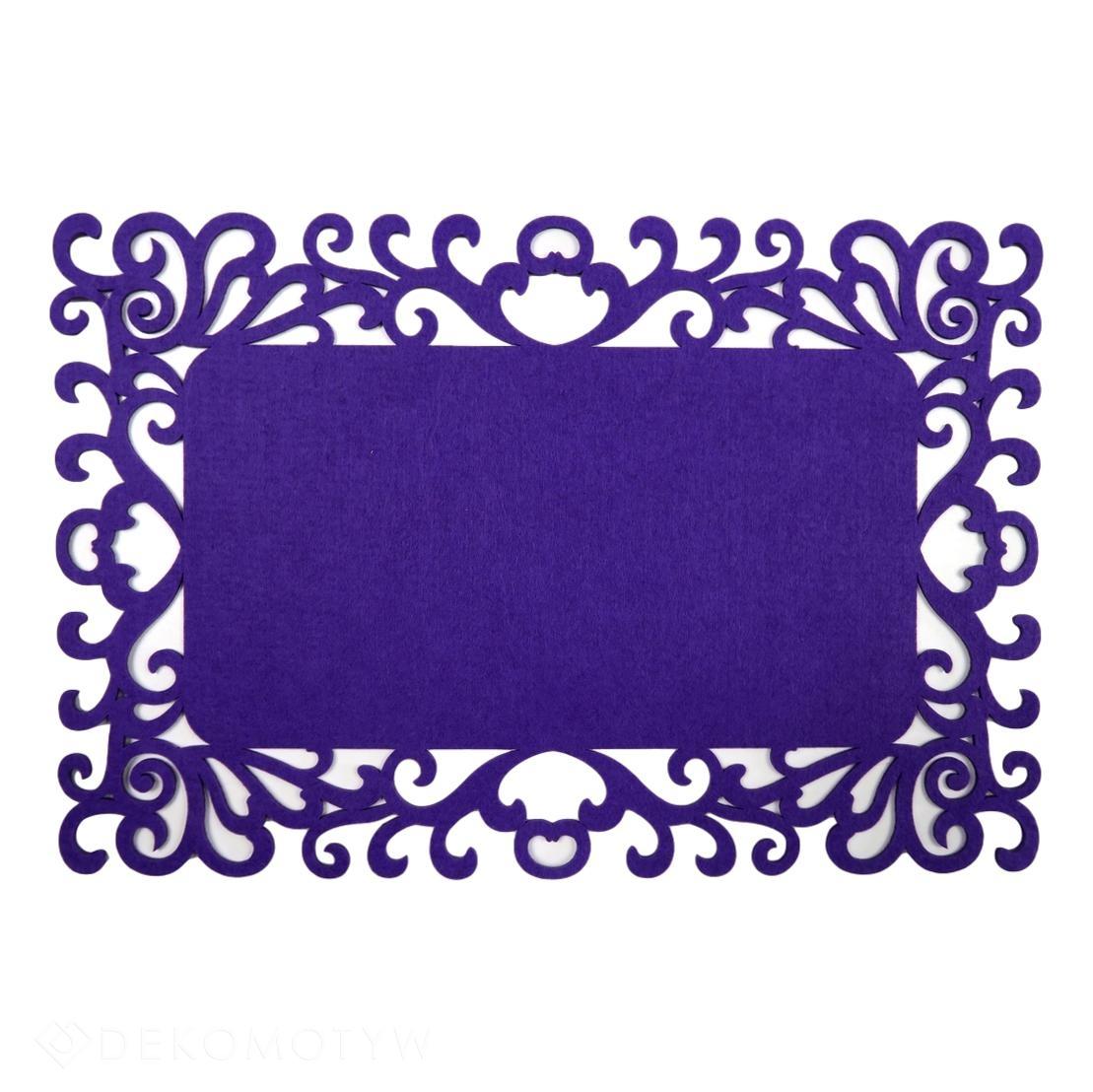 Podkładka Mata Na Stół Filc Ornament Fiolet 5548 Dekomotyw
