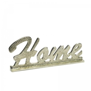 Napis  HOME metal glamour silver