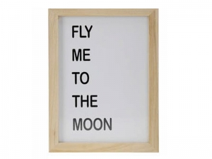 Obraz tablica napis Fly me to the moon